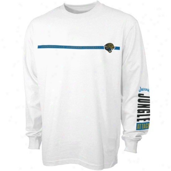 Jacksonvulle Jaguar Attire: Jacksonville Jaguar White Depth Char Long Sleeve T-shirt