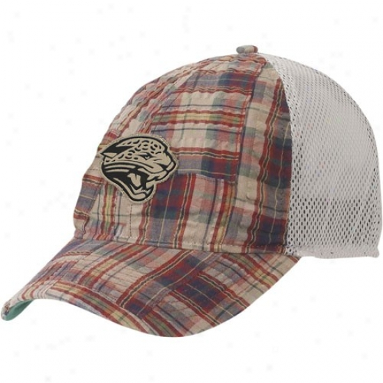 Jacksonville Jaguar Cap : Reebok Jacksonville Jaguar Plaid Mesh Back Adjustable Exceed
