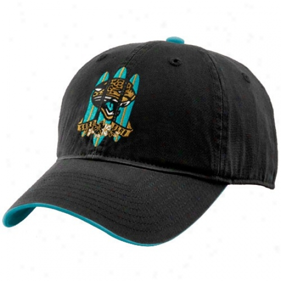Jacksonville Jaguar Hat : Reebok Jacksonville Jaguar Black Surf Club Adjustable Hat