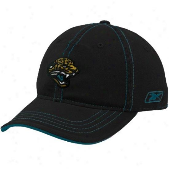 Jacksonville Jaguar Hat : Reebok Jacksonville Jaguar Black Slouh Flex Hat