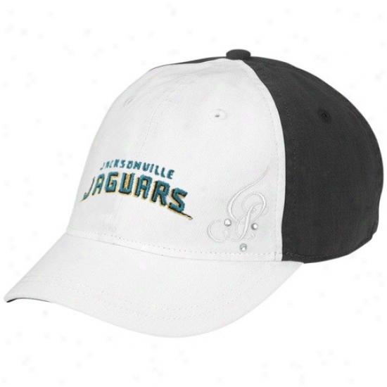 Jacksonville Jaguar Hat : Reebok Jacksonville Jaguar Ladies White Charlie Adjustable Hat