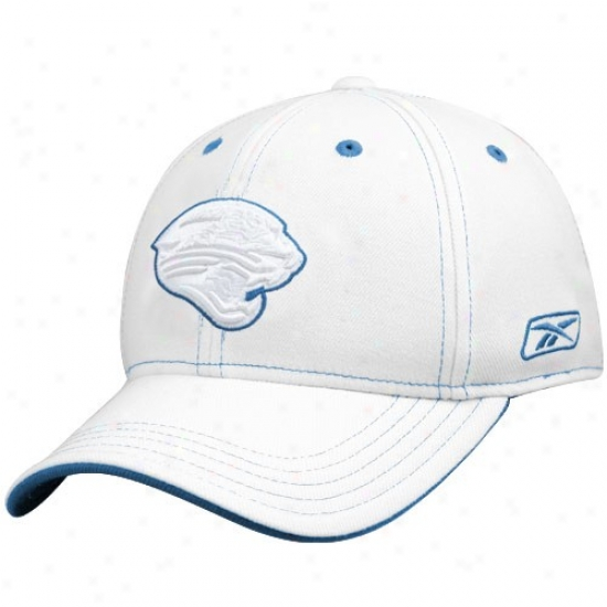 Jacksonville Jaguar Hats : Reebok Jacksonville Jaguar White Structured Flex Hats