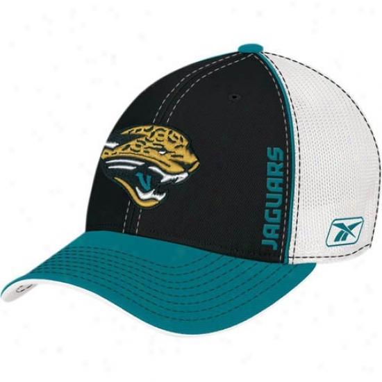 Jacksonville Jaguar Hats : Reebok Jacksonville Jaguar 2008D raft 1-fit Flex Hats