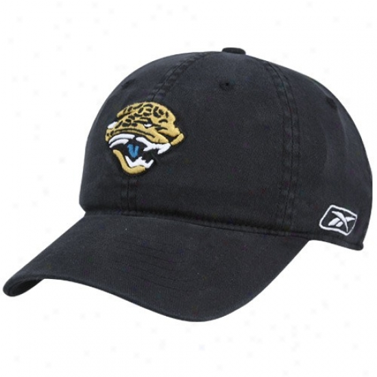 Jacksonville Jaguar Hats : Reebok Jacksonville Jaaguar Black Basic Slouch Flex Fit Hats