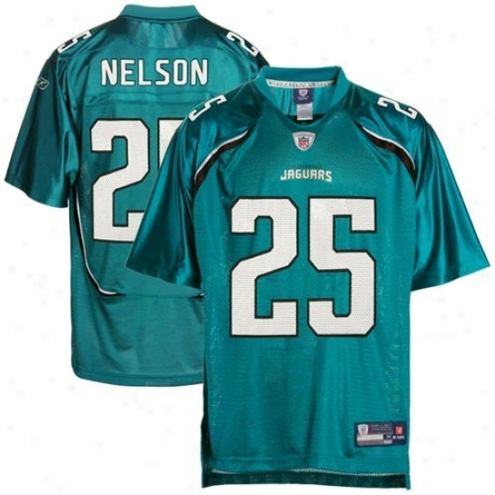 Jacksonville Jaguar Jerse y: Reebok Nfl Equipment Jacksonville Jaguar #25 Reggie Nelson Youth Teal Replica Football Jsrsey