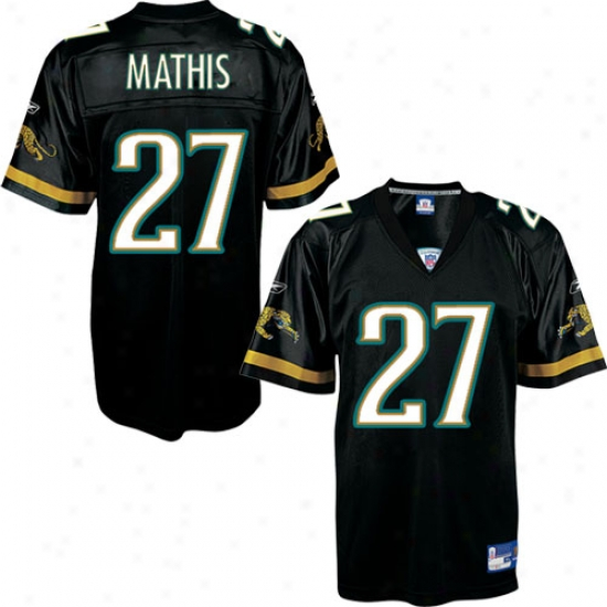 Jacksonville Jaguar Jerseys:  Reebok Jacksongille Jaguar #27 Rashesn Mathis Black Alternate Replica Football Jerseys