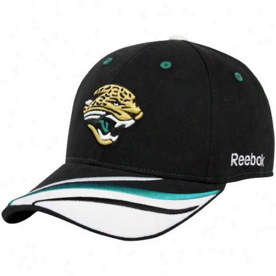 Jacksonville Jaguar Merchandise: Reebok Jacksonville Jaguar Black Collage Adjustable Hat