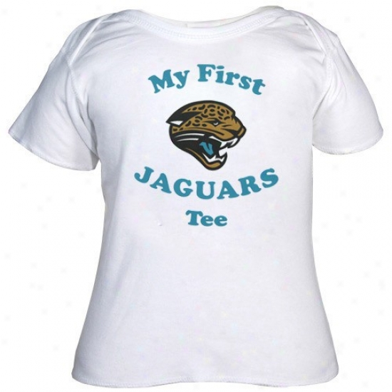 Jacksonville Jaguar Shirt : Reebok Jacksonville Jaguar Infant White My First Shirt Shirt