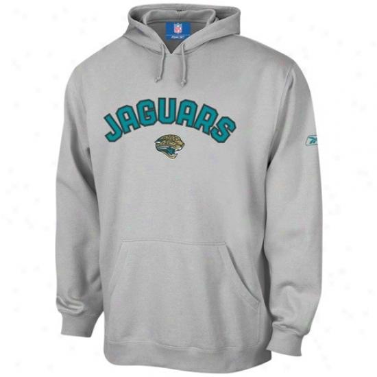 Jackdonville Jaguar Sweat Shirt : Reebok Jacksonville Jaguar Ash Youth Playbook Sweat Shirt