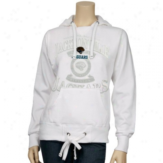 Jacksonville Jaguar Sweatshirts : Jacksonville Jaguar Ladies White Club Seat Sweatshirts