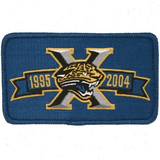 Jacksonville Jaguas 10 Year Anniverzary Team Logo Emblem