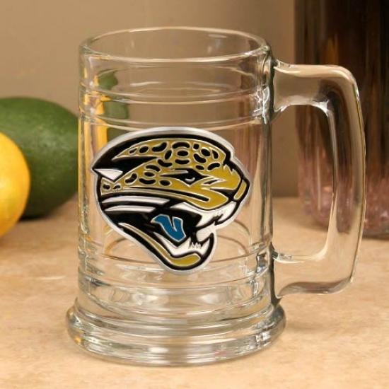 Jacksonville Jaguras 15oz. Team Logo Tankard Glass