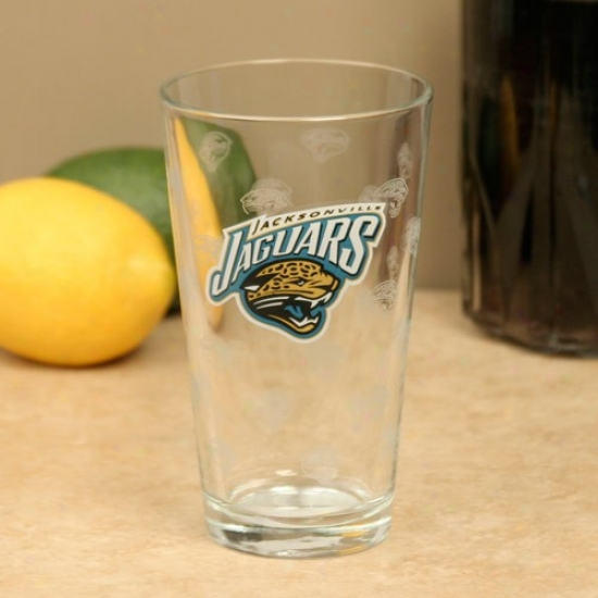 Jacksonville Jaguars 16oz. Satin Etch Pint Glass