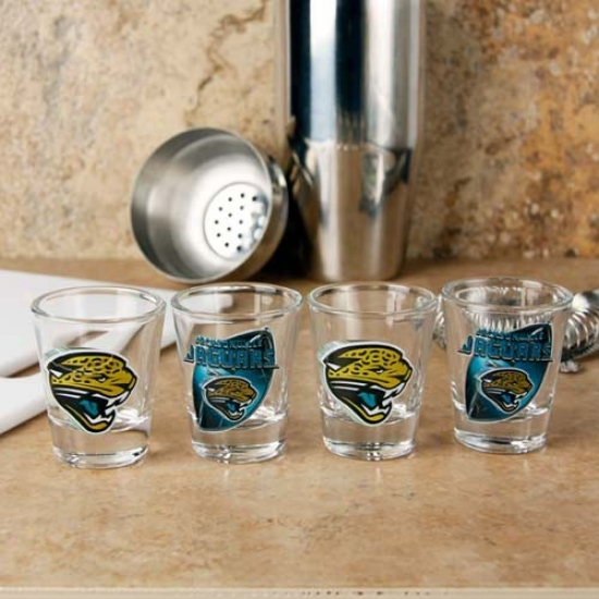 Jacksonville Jaguars 4-pack Enhanced Hi-def Design Shot Glass Set