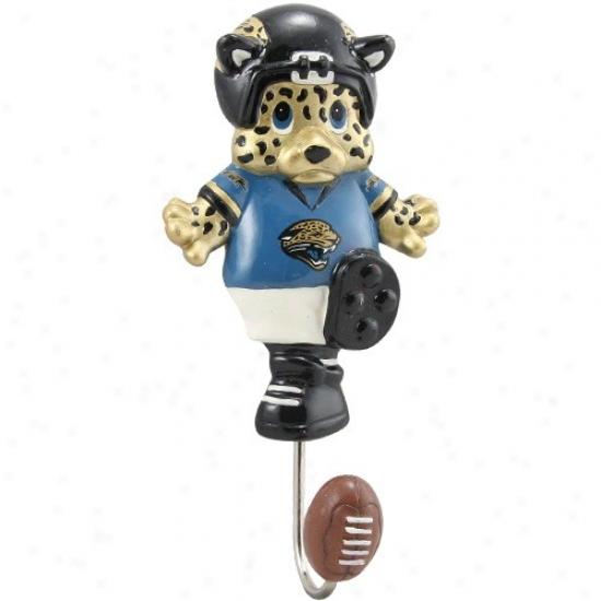 """jacksonville Jaguars 7"""" Mascot Wall Hook"""