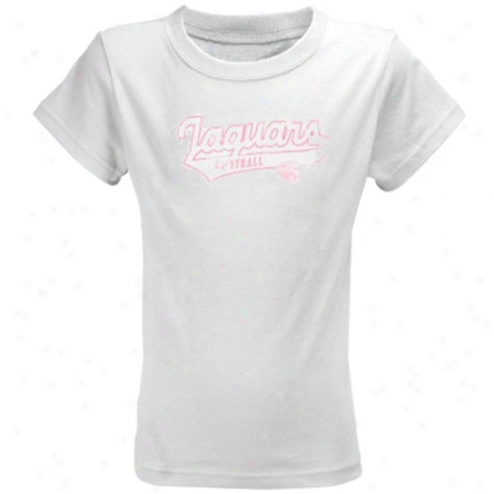 Jacksonville Jaguars Apparel: Reebok Jacksonville Jaguars Youth Girls White Swept Away T-shirt