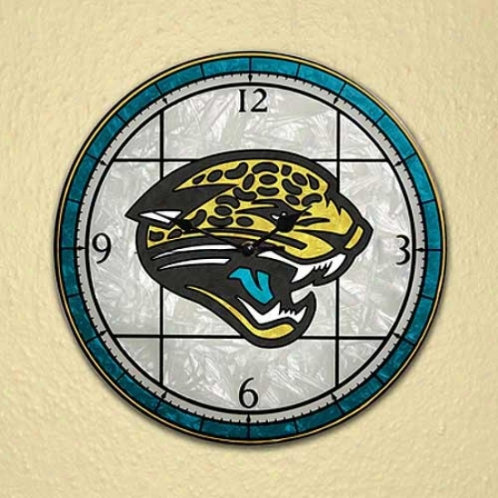Jacksonville aJguars Art-glass Clock