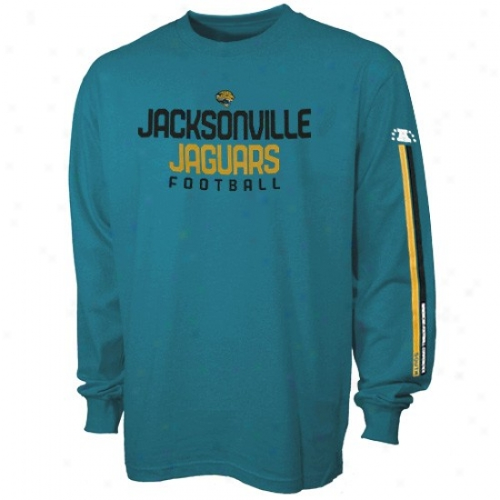Jacksonville Jaguars Attire: Reebok Jacksonville Jaguars Youth Teal Strongside Long Sleeve T-shirt