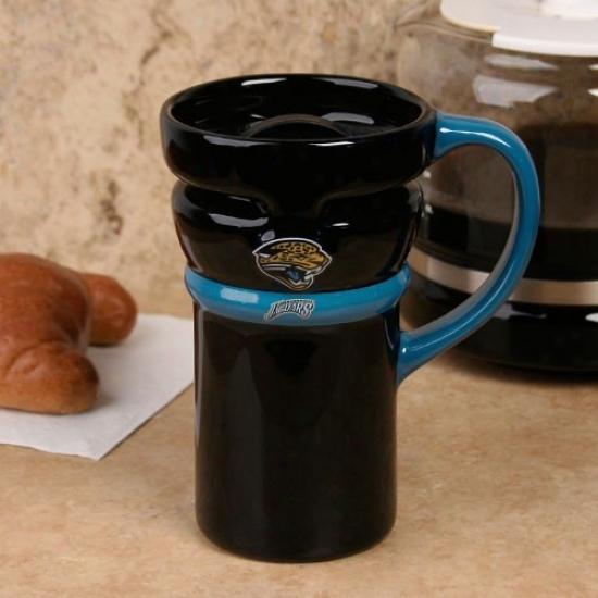 Jacksonville Jaguars Black Closeout 15oz. Ceramic Travel Mug