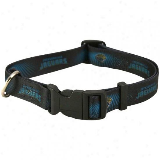Jacksonville Jaguarx Black Dog Collar
