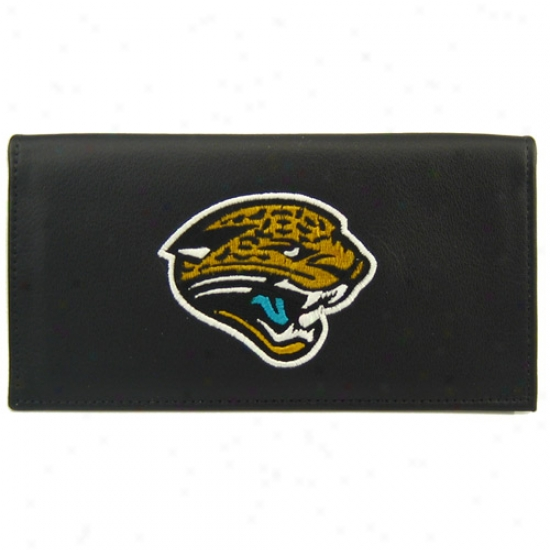 Jacksonville Jagjars Black Embroidered Checkbook Cover