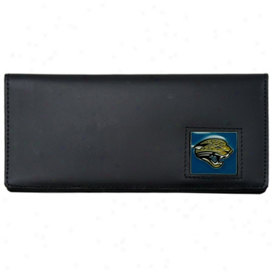 Jacksonville Jaguars Black Leather Executive Checkbook