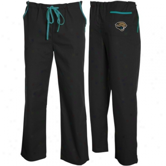 Jacksonville Jaguars Black Scrub Pants