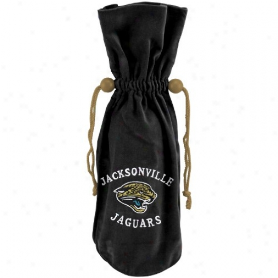 Jacksonville Jaguars Black Wine Bottle Bag