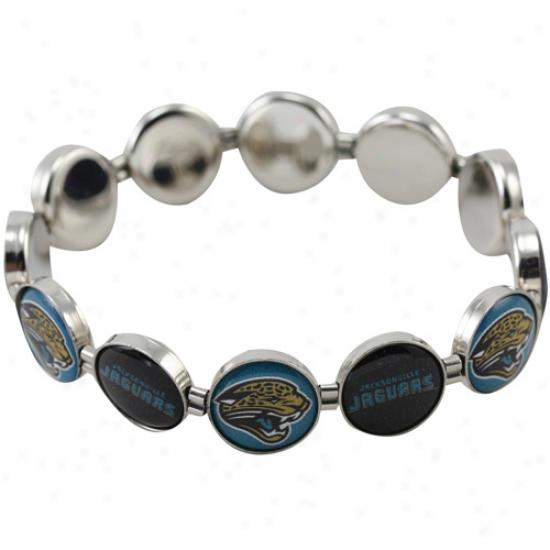 Javksonville Jaguars Enamel Charm Beaded Bracelet