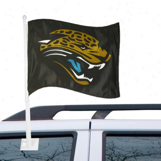 Jacksonville Jaguars Flags : Jacksonville Jaguars Black Car Flags