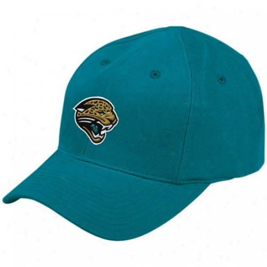Jacksonville Jaguars Gear: Reebok Jacksonville Jaguars Toddler Teal Basic Logo Adjustable Slouch Hat