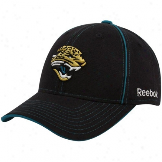 Jacksonville Jaguars Gear: Reebok Jacksonville Jaguars Black Structured Adjustable Hat
