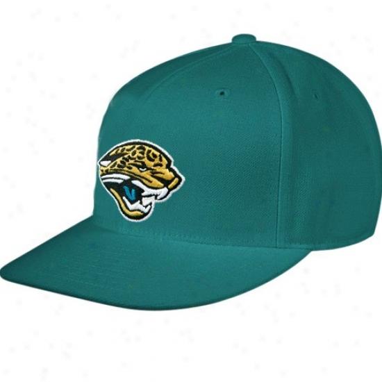 Jacksonville Jaguars Hat : Reebok Jacksonville Jaguars Teal Sideline Flat Bill Fitted Hat