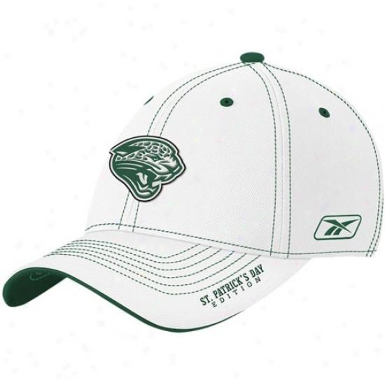 Jacksonville Jaguars Hats : Reebok Jacksonville Jaguars White St. Patrick's Day Edition Flex Fit Hats