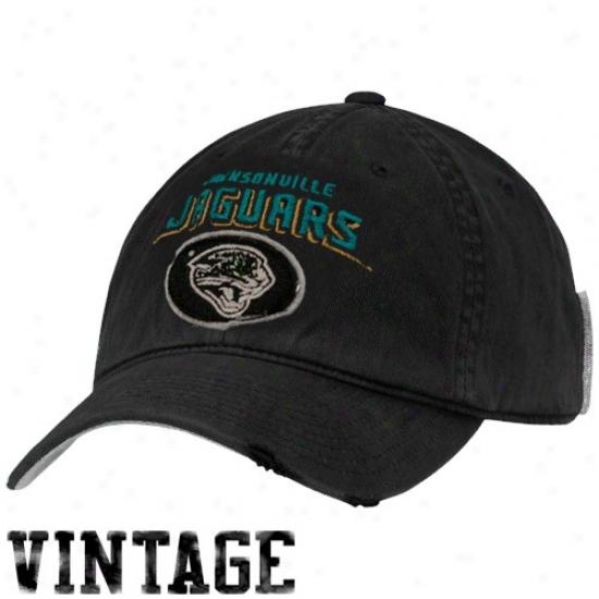 Jacksonville Jaguars Hats : Reebok Jacksonville Jaguars Black Vintage Adjustable Slouch Hats