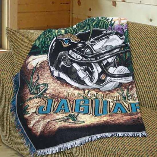 """jacksonville Jaguars Home Fiedl Advantage 48""""x60"""" Blanket Throw"""