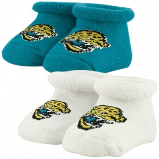 Jacksonville Jaguars Infant Teal 2-pack Bootie Socks