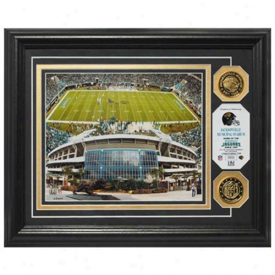 Jacksonville Jaguars Jacksonville Municipal Stadium 24kt Gold Photomint