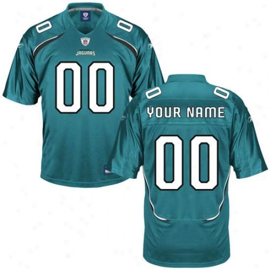 Jacksonville Jaguars Jersey : Reebok Nfl Equipment Jacksonville Jaguars Youth Custom Replica Jersey - Teal