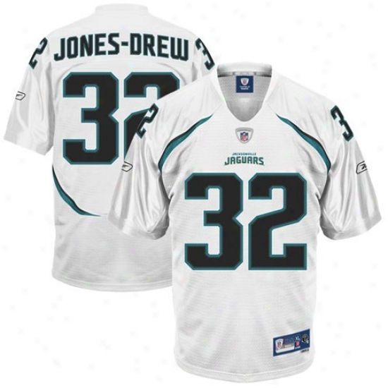 Jacksonville Jaguars Jerseys : Reebok Nfl Equipment Jacksonvilpe Jaguars #2 White Maurice Jones-drew Premier Tackle Twill Football Jerseys