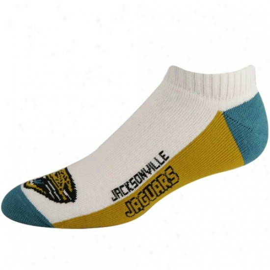 Jacksonville Jaguars Ladies White (519) 9-11 Team Logo Ankle Socks