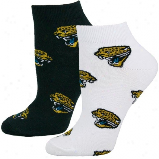Jacksonville Jaguars Ladies White-black Two-pack Socks