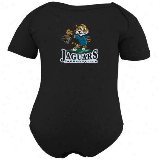 Jacksonville Jaguars Newborn Black Nfl Mascot Creeper