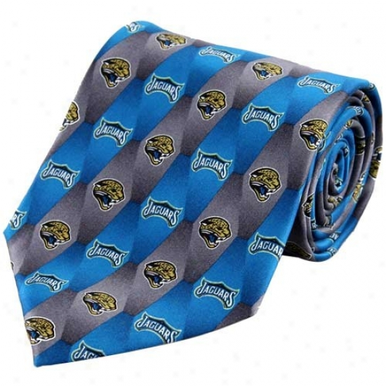 Jacksonville Jaguars Pattern 1 Silk Tie