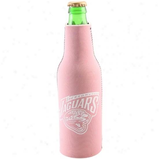 Jacksonville Jaguars Pink Neoprene Bottle Coozie
