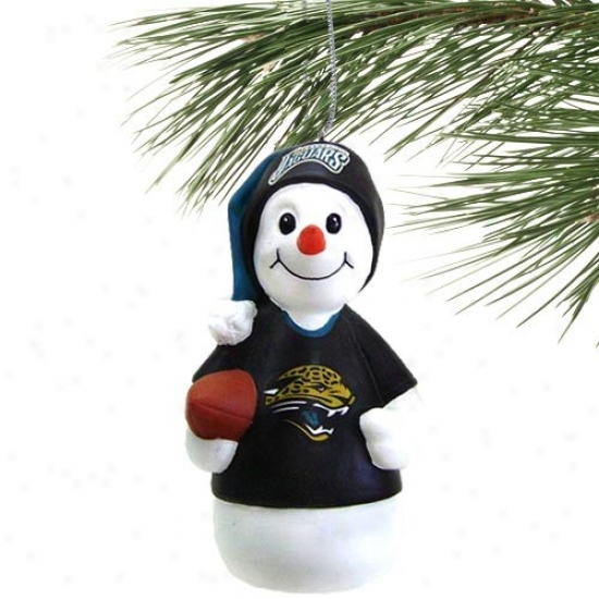 Jacksonville Jaguars Reesin Snowman Ornament