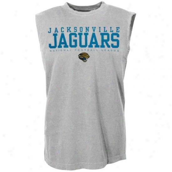 Jacksonville Jaguars Shirts : Jacksonville Jaguars Ash Critical Victory Sleeveleds Shirts