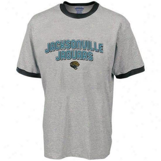 Jacksonville Jaguars Shkrts : Reebok Jacksonville Jaguars Ash Youth Double Arch Shirts