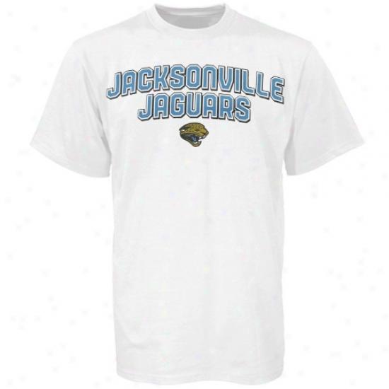 Jacksonville Jaguars Shirts : Reebok Jacksonville Jaguars White Double Arched Shidts