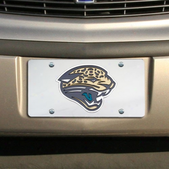 Jacksonville Jaguars Silver Mirrored License Plate